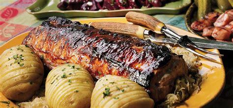 boneless pork loin recipes broil king pork recipes boneless pork loin on the rotisserie with beer sauce and sauerkraut
