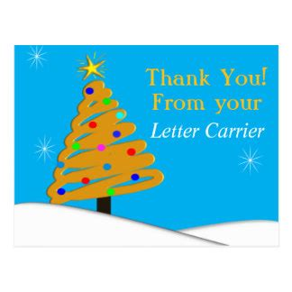 thanks mail carrier warming up mailman thank you cards zazzle