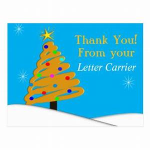 mailman thank you cards greeting photo cards zazzle With letter carrier thank you cards for customers