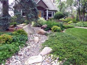 Dry Creek Bed Front Yard Landscaping