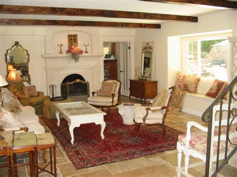 custom home remodel french country living room