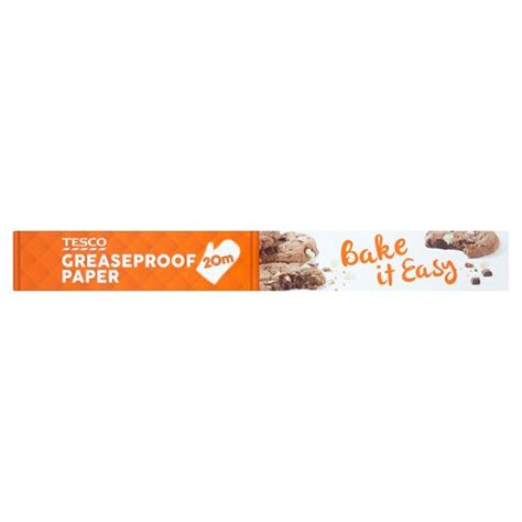 tesco paper greaseproof groceries previous