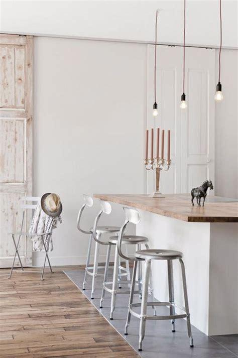 cuisine parquet la cuisine blanche et bois en 102 photos inspirantes