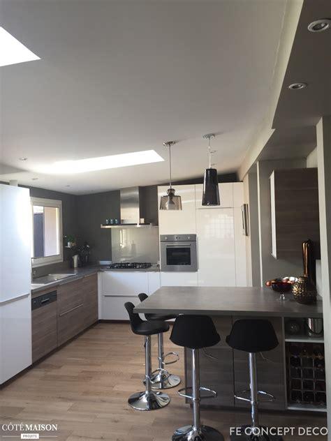 cuisine ouverte sur sejour salon stunning deco maison cuisine ouverte pictures design