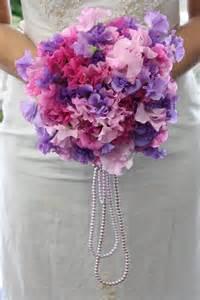 Sweet Pea Wedding Bouquet