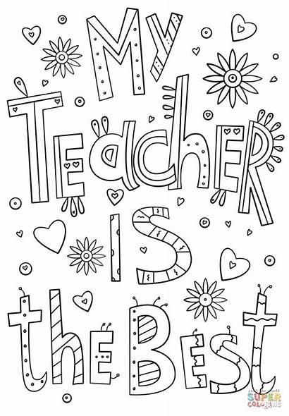 Coloring Teacher Pages Teachers Appreciation Printable Printables