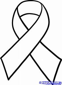 How to Draw a Cancer Ribbon, Breast Cancer Ribbon, Step by ...