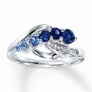 lab created blue sapphire engagement rings wedding and With lab created wedding rings