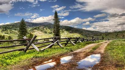 Country Fence Wallpapers Roads Road Screensavers Nature