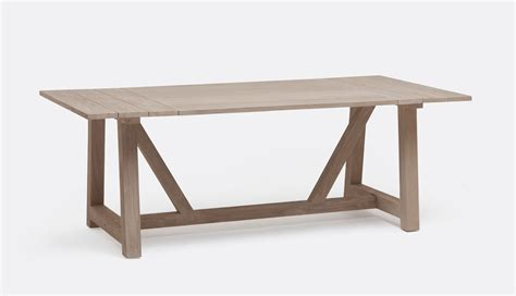 outdoor farmhouse dining table galen teak plank outdoor farm dining table mecox gardens