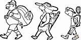 Familie Ausmalbilder Kleurplaat Ausmalbild Wandernde Wandeltocht Avondwandeling Wandern Coloring Wandelschoenen Kleurplaten Gezin Zum Clipart Kostenlos Hiking Ausdrucken Beim sketch template
