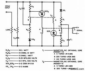 A C Static Latching Relay - Basic Circuit