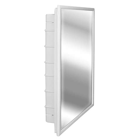 Glacier Bay Medicine Cabinet Mirror by Glacier Bay Spacecab 16 In X 26 In X 3 1 2 In Framed