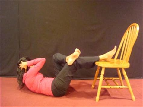chair sit ups at home for a flat toned stomach