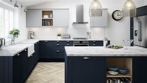 midnight blue kitchen cabinets dunham kitchen in midnight blue magnet kitchens 7501