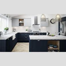 Dunham Kitchen In Midnight Blue  Magnet Kitchens