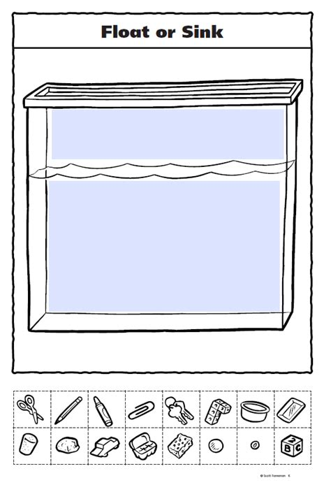 What Determines If Floats Or Sinks by Float Or Sink Worksheet Photos Getadating