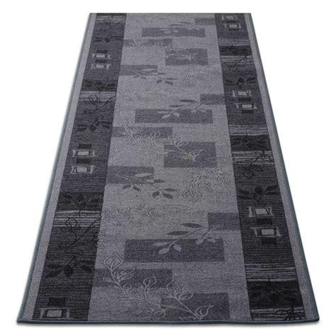 tapis de cuisine au metre tapis de cuisine design gris avec motif 3 largeurs
