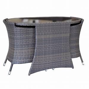 Balkon sitzgruppe sumatra braun 3 teilig polyrattan tisch for Französischer balkon mit rattan sitzgruppe garten