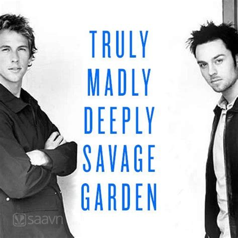madly deeply savage garden english playlist