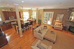 open kitchen with dining room and living room home combo With dining room and living room