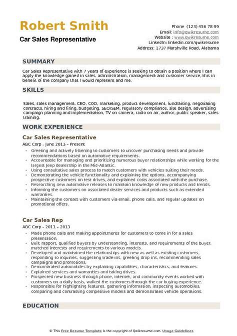 Sale Representative Resume Sle by Radio Sales Representative Resume Advertising Sales