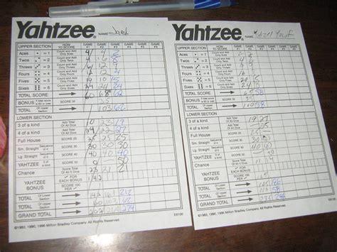 yahtzee score card img flickr photo sharing