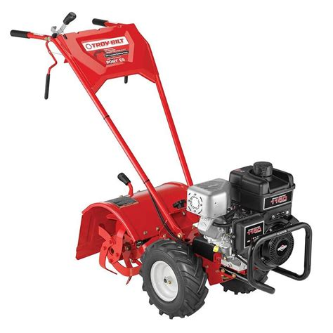 garden tillers at lowes shop troy bilt pony es 250cc 16 in rear tine tiller carb