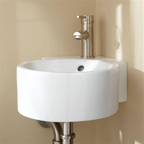 kris wall mount corner sink