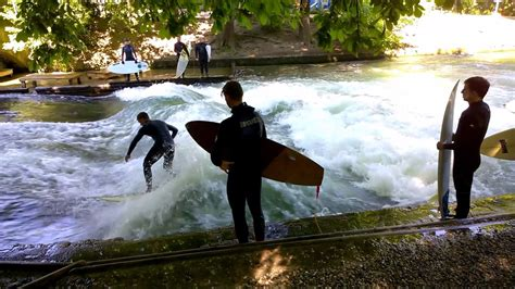 Englischer Garten Munich Surfing by River Surfing On The Eisbach In The Garden Munich