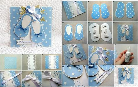 diy cute baby shoes themed card