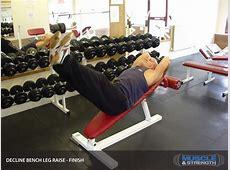 Decline Bench Leg Raise Video Exercise Guide & Tips