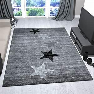 Teppich Grau Modern : teppich modern design grau schwarz wei kurzflor sternenmuster jugendstil trend ebay ~ Whattoseeinmadrid.com Haus und Dekorationen