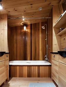 17 chic and elegant wooden bathroom interiors for Bathroom in the woods