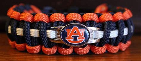 auburn school colors auburn tigers college paracord bracelet with