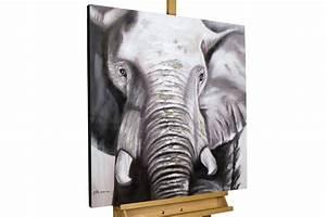 Bilder Schwarz Weiß Gemalt : acryl gem lde 39 elefant deko schwarz weiss 39 handgemalt leinwand bilder 80x80 ebay ~ Eleganceandgraceweddings.com Haus und Dekorationen