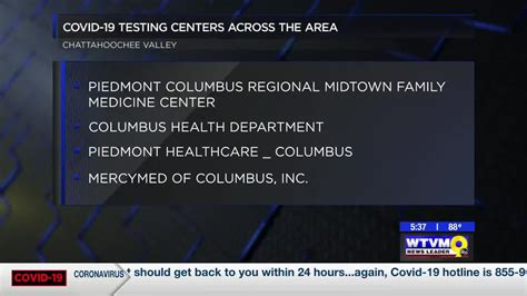 Several COVID 19 testing locations available in the