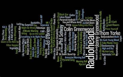 Text Radiohead Rock Wallpapers Typography Backgrounds Song