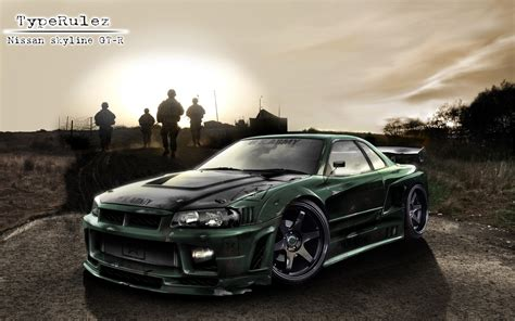 race cars nissan skyline gt   shark sea weapon