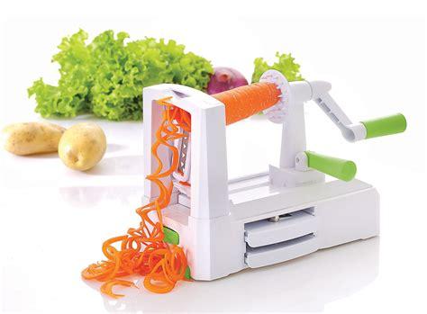 spiral vegetable fruit slicer spiralizer vinsani tri blade spiral vegetable slicer spiralizer