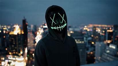 Neon Mask Wallpapers 5k Guy 4k Backgrounds