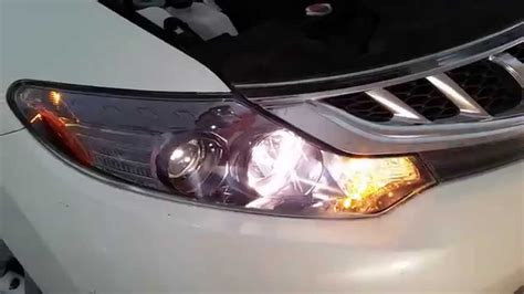 2014 nissan murano suv testing headlights after changing