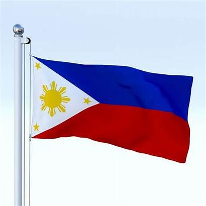 Flag Philippines 3d Animated Low Poly Models