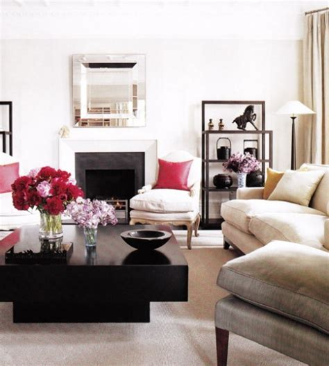 Livingroom Table White Living Room With Black Square Coffee Table 22 Bond St Daily