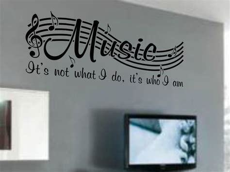 word for decor is not vinyl wall quote word decal musical notes room decor v2 ebay
