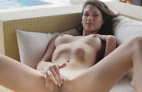 Wallpaper Tiffany Brunette Boobs Nude Naked Pussy