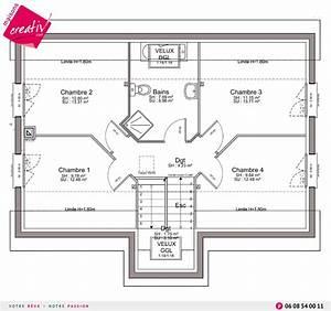 maison a etage entree a demi niveau de maisons creativ estelle With plan maison demi niveau 6 maison demi etage interieur