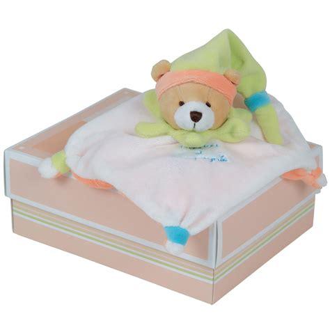 mini et compagnie mini doudou acidul 233 lapin ours orange lapin beige ours bleu lapin bleu vert ours