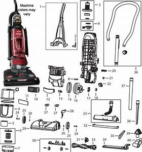 Bissell 6585 Turbo Powerforce Vacuum Cleaner Parts