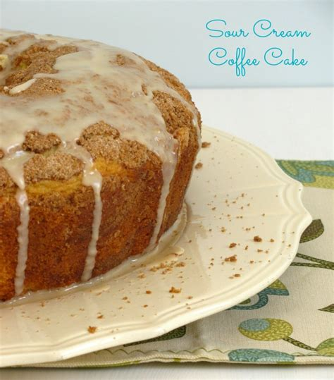It is a perfect sunday afternoon cake with the girls, gossip, and a unnecessary calories! Sour Cream Coffee Cake - Cooking With Ruthie
